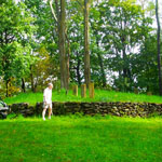 """21-Toffey"", back yard, Quaker Hill, Pawling. Me & Bill, Sept., 2011."